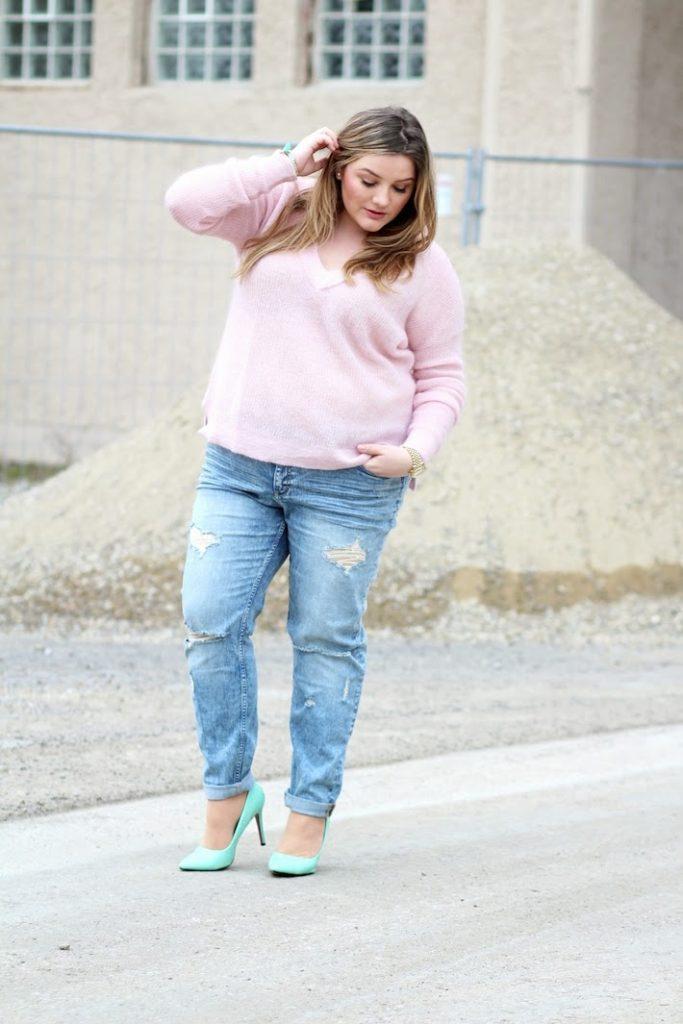 Plus Size rosa Pulli
