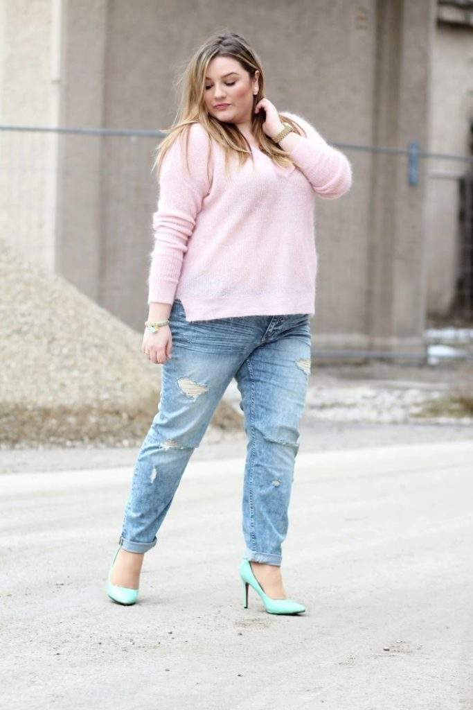 Streetstyle Casual pink blue