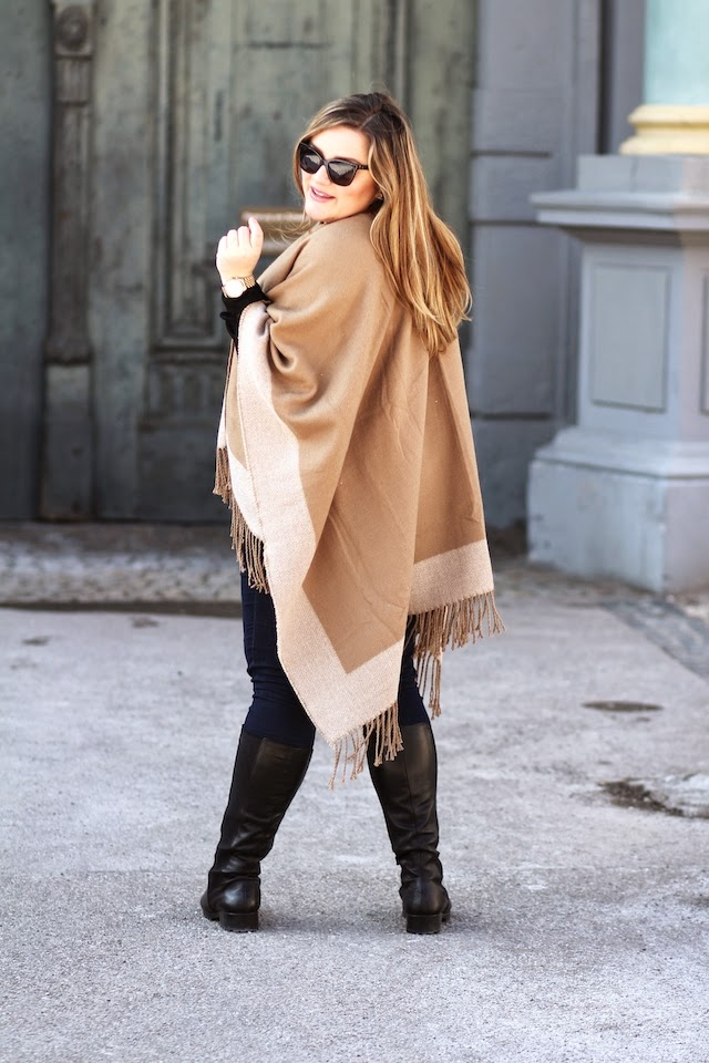 Plus Size Blog Cape oder Poncho