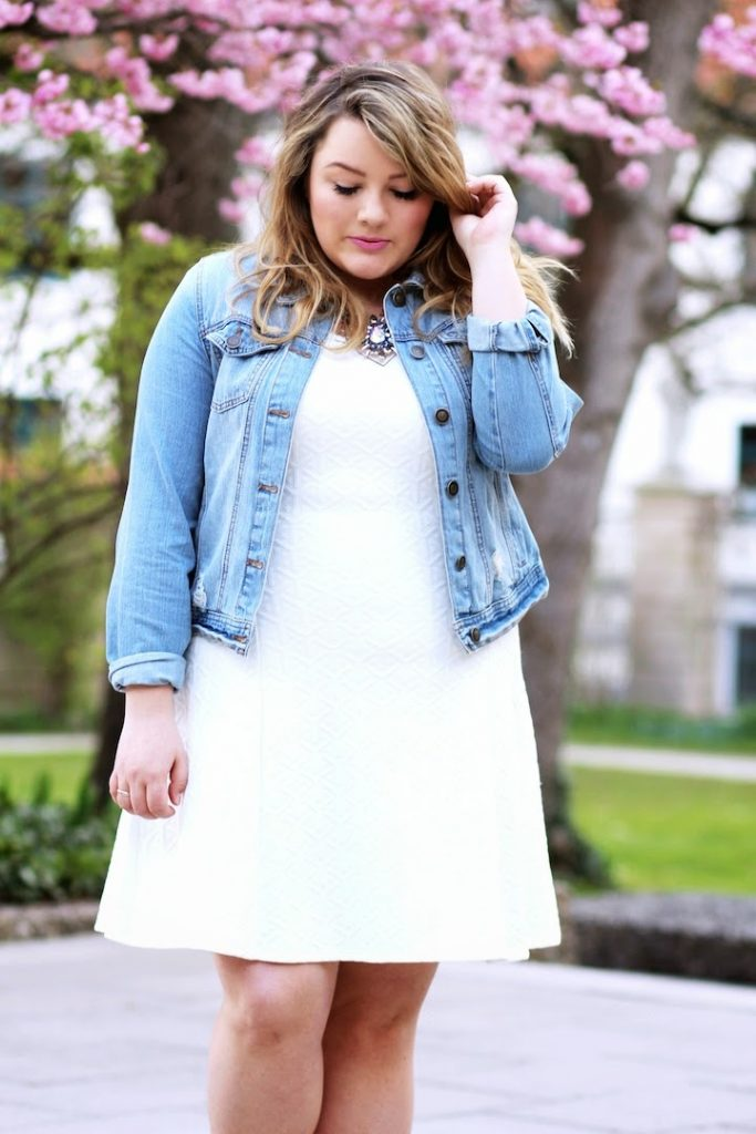 Plus Size Outfit Jeansjacke