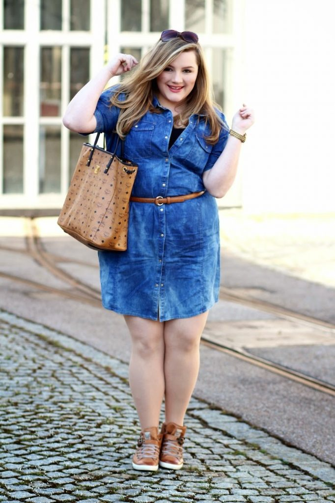 Plus Size Outfit Jeanskleid