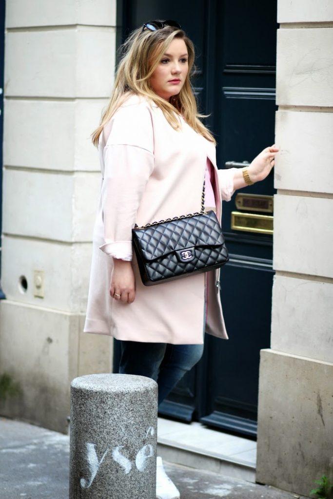 rosa mantel und chanel plus size blaue türe paris