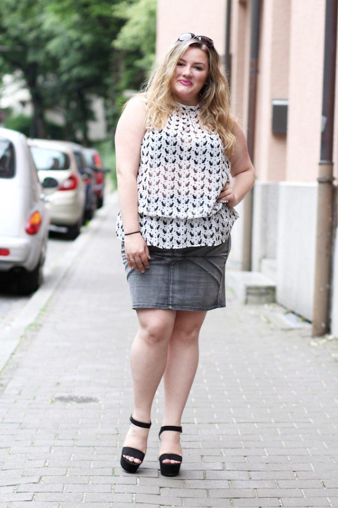 Bluse Plus Size Katzentop
