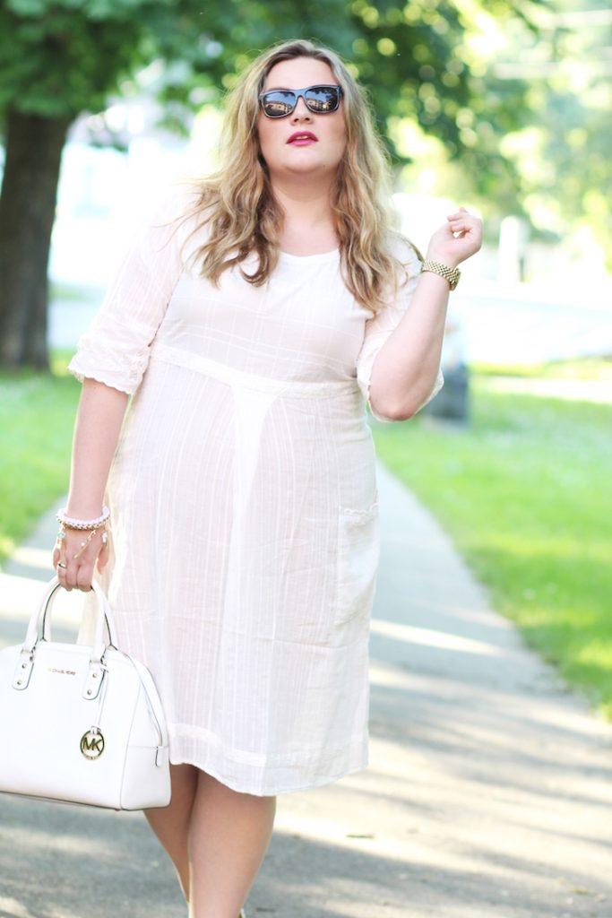 weißes Kleid Gudrun Sjöden