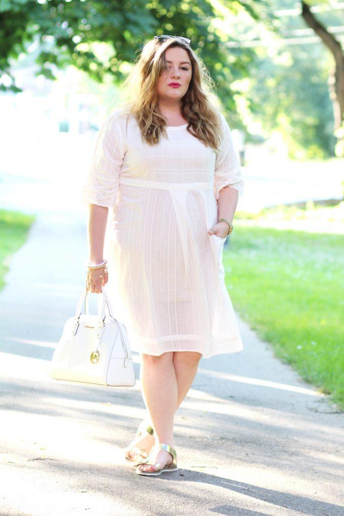weißes Kleid Gudrun Sjöden Plus Size Post