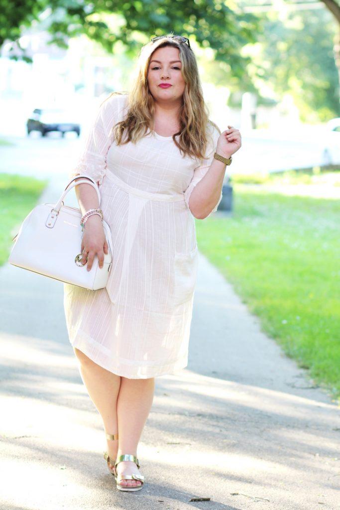 Sommer Kleid weiß Plus Size