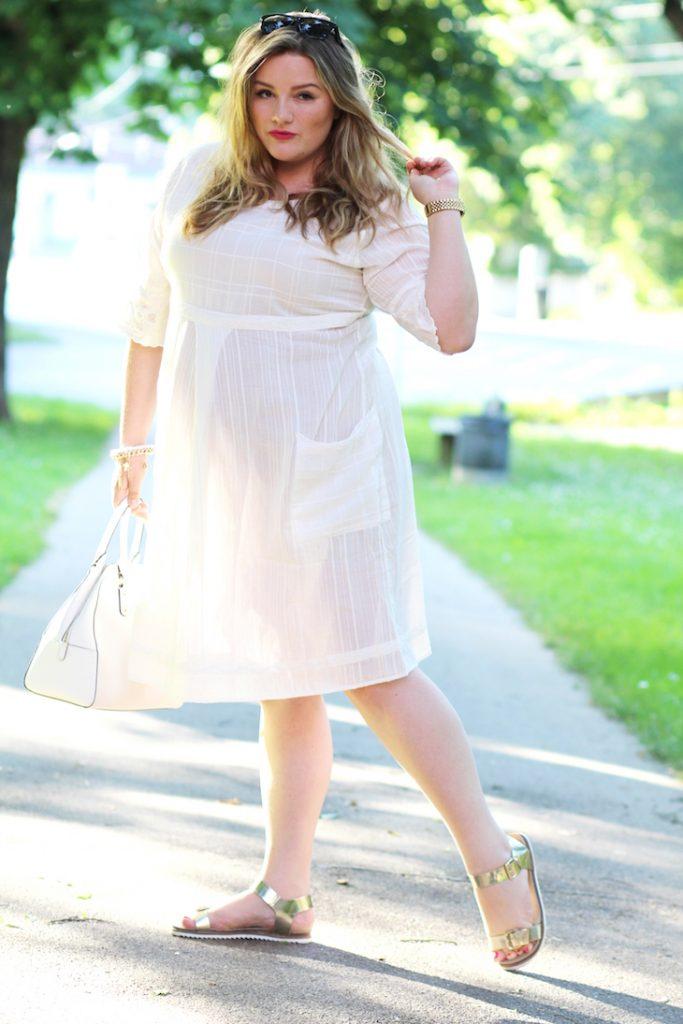 Gudrun Sjöden Plus Size weißes Kleid