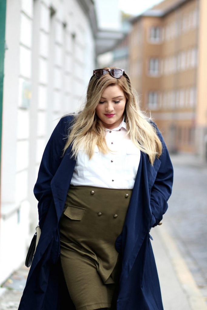 plus size look sheego blauer mantel