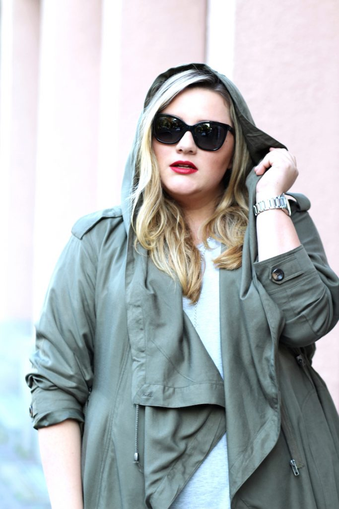 Parka oliv Plus Size Look
