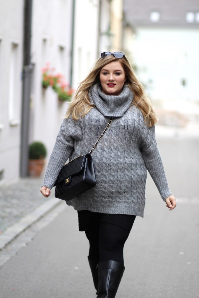 plus size outfit pulli