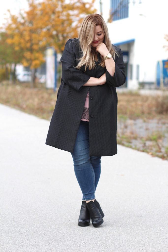 schwarzer Mantel zizzi