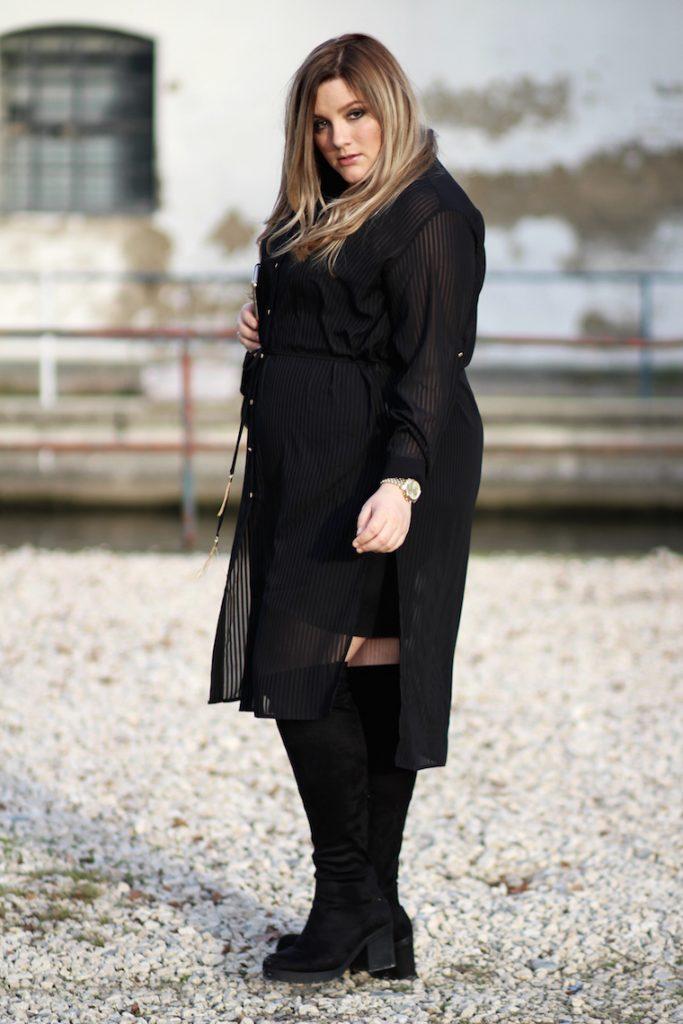 Plus Size Outfit XMAS Blusenkleid