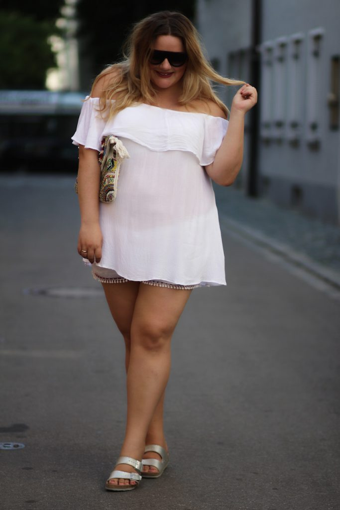 off shoulder Plus Size