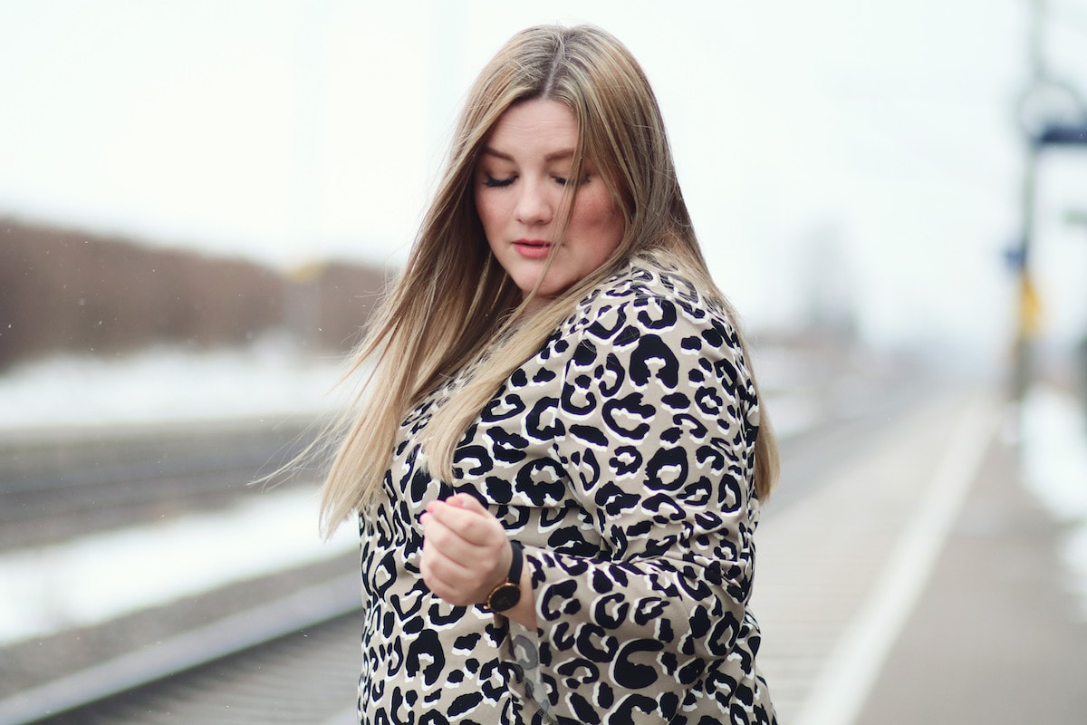 Leopardy // Plus Size Dress Animal-Print