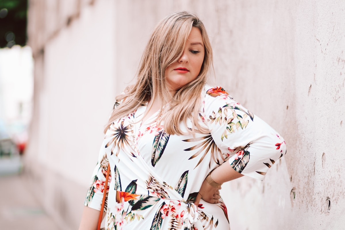 Tropical Print – Wrapped Dress by Belloya
